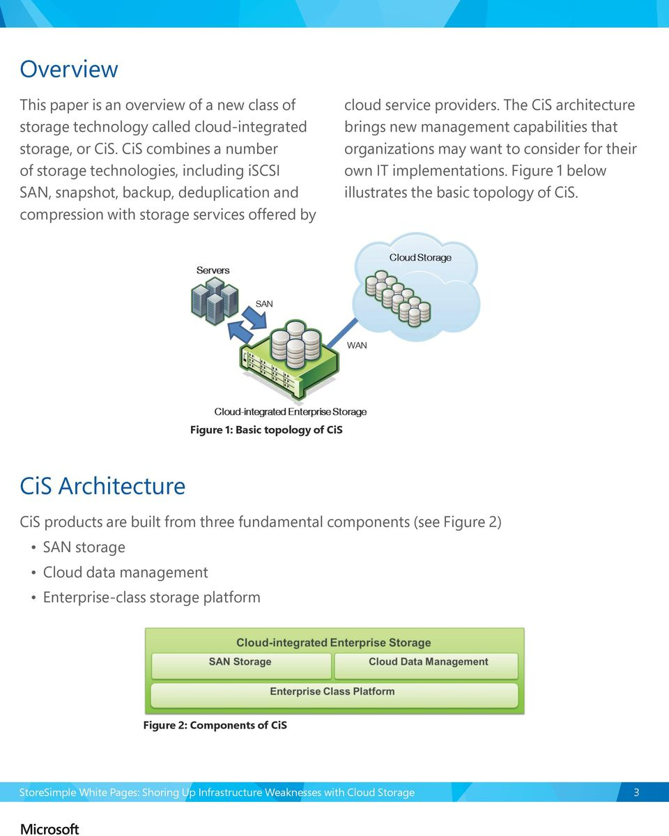 The CiS architecture brings new management capabilities that organizations may want to consider for their own IT implementations.