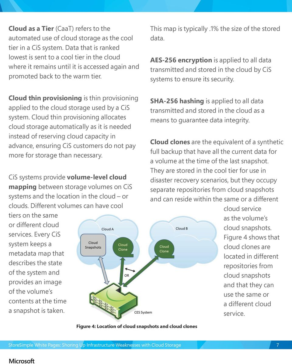 AES-256 encryption is applied to all data transmitted and stored in the cloud by CiS systems to ensure its security.