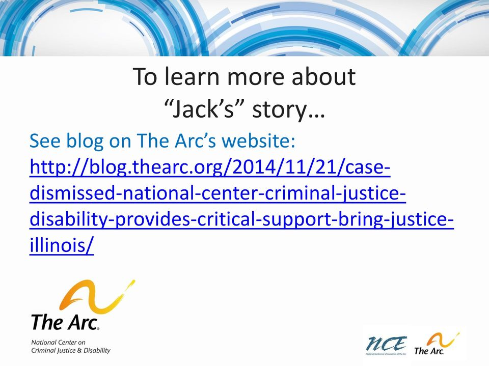 National Center on Criminal Justice and Disability - PDF