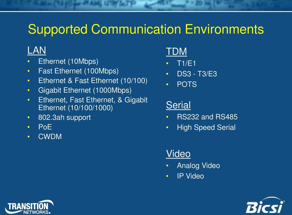 Ethernet, Fast Ethernet, & Gigabit Ethernet (10/100/1000) 802.