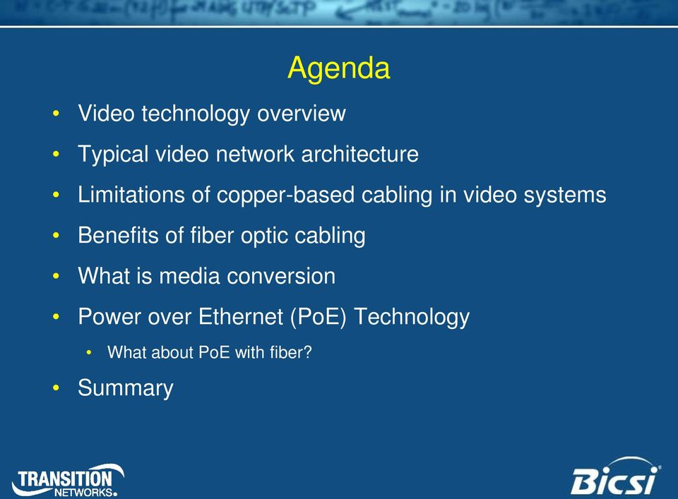 of fiber optic cabling What is media conversion Power over