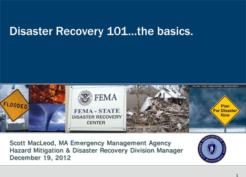 Agency Hazard Mitigation & Disaster