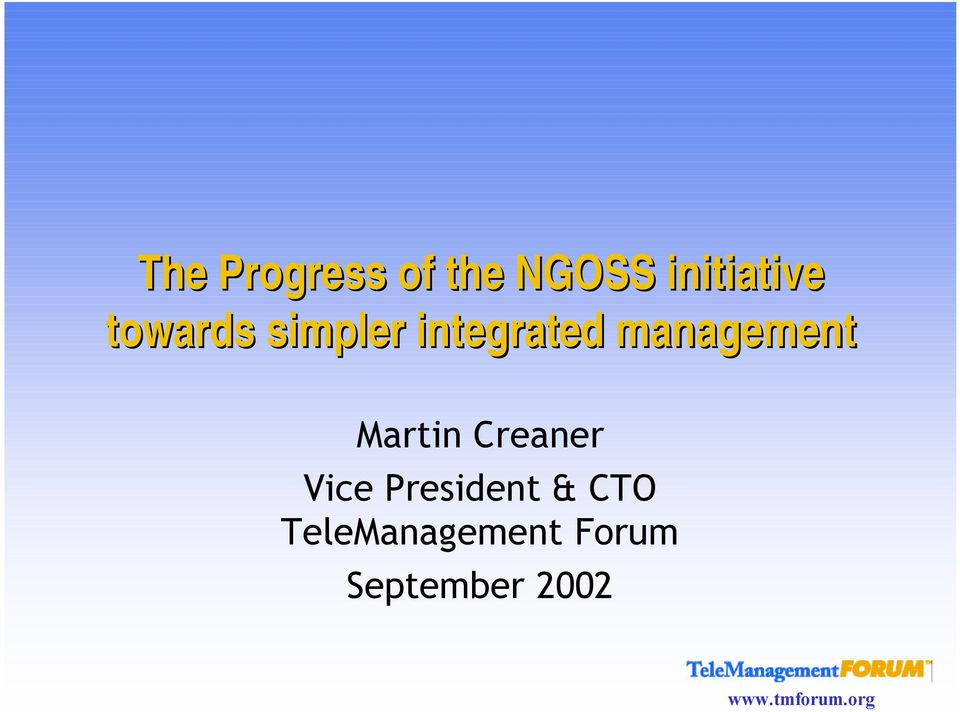 integrated management Martin
