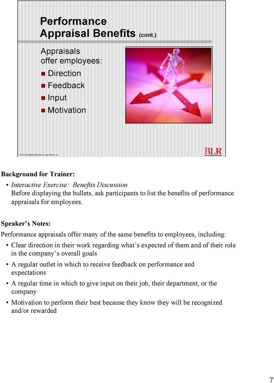 benefits of performance appraisals for employees.