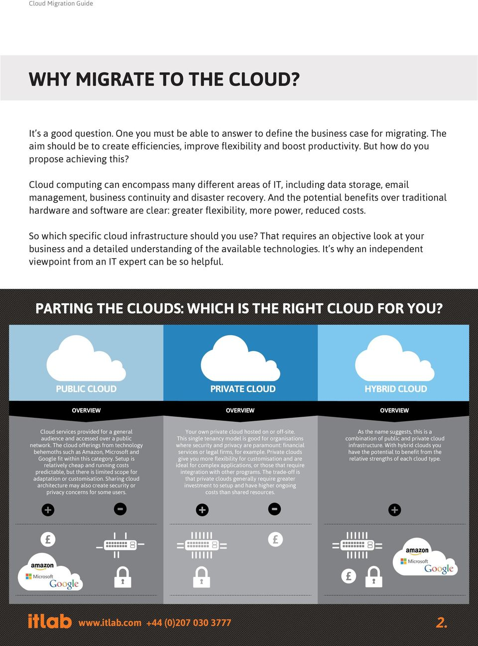Cloud computing can encompass many different areas of IT, including data storage, email management, business continuity and disaster recovery.