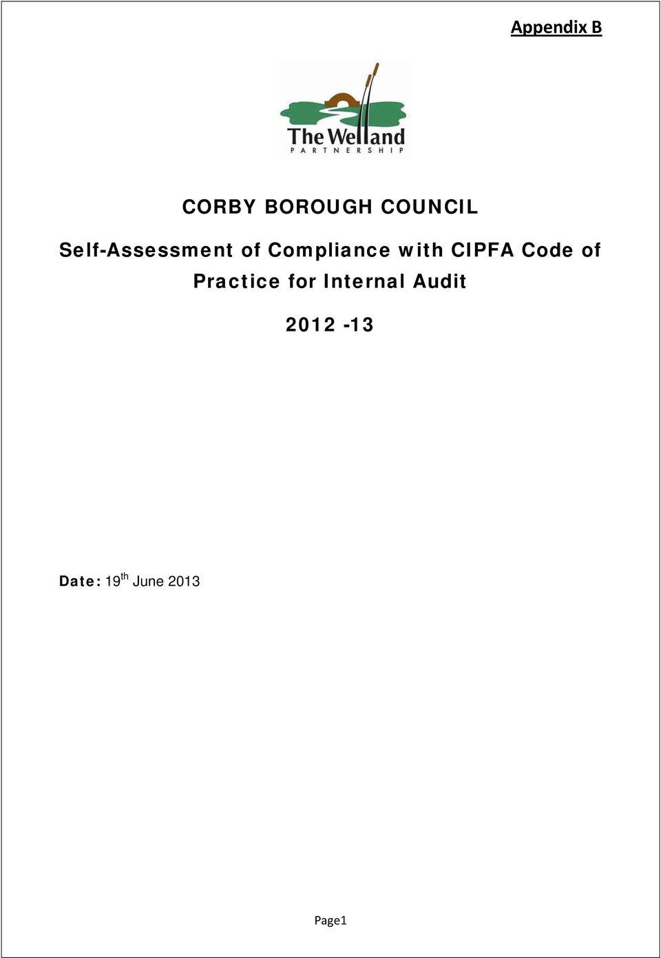 CIPFA Code of Practice for Internal