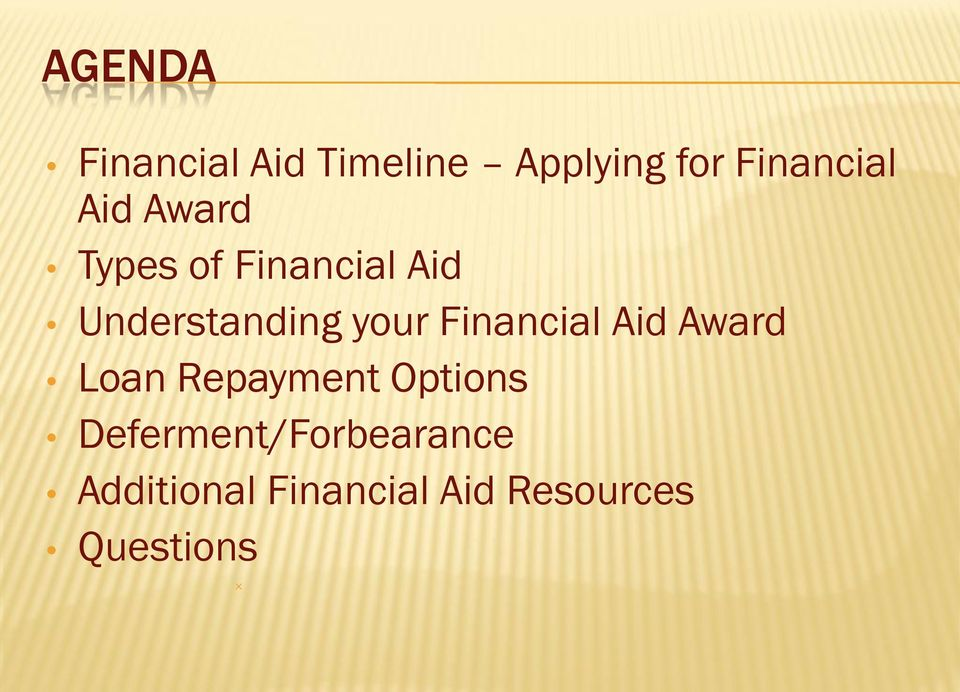 Financial Aid Award Loan Repayment Options