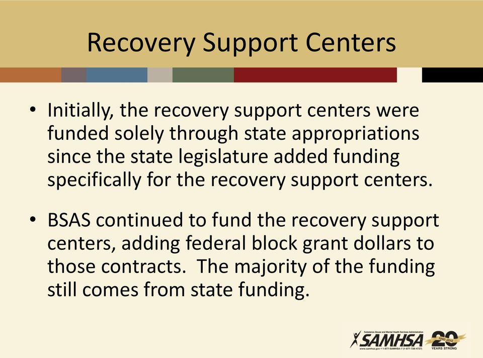 support centers.