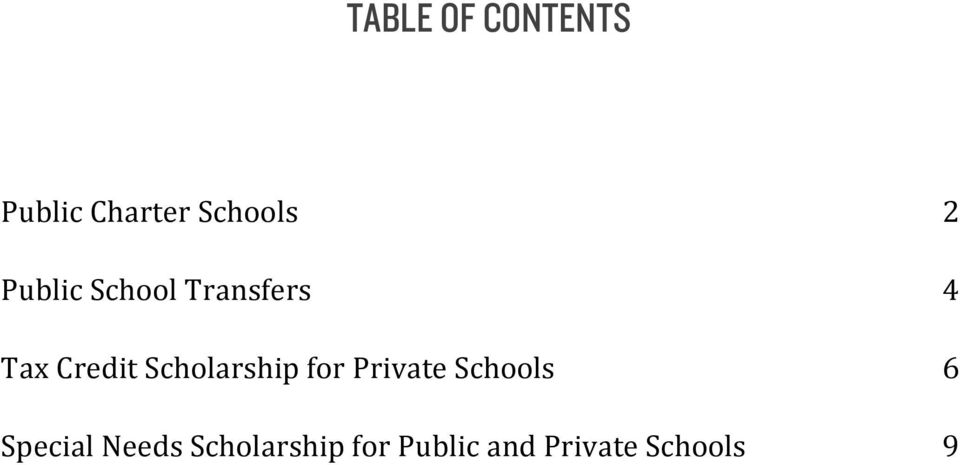 Scholarship for Private Schools Special