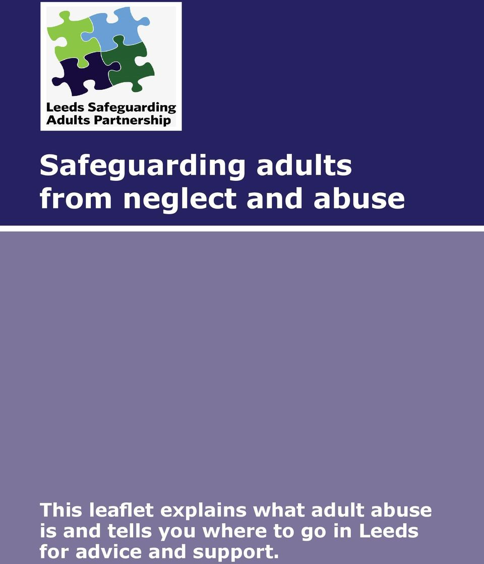 what adult abuse is and tells you