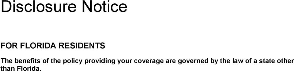 providing your coverage are governed