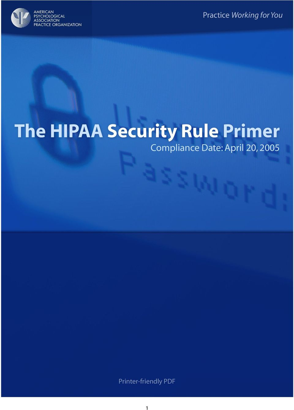 for You The HIPAA Security Rule Primer