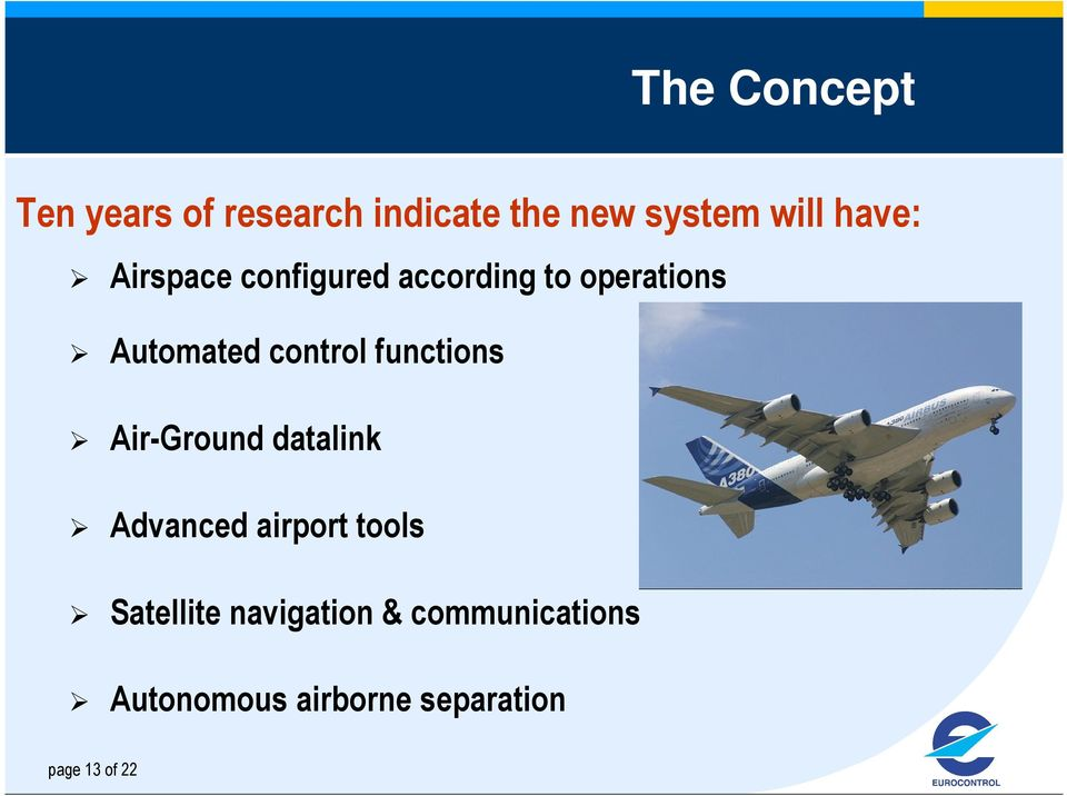 control functions Air-Ground datalink Advanced airport tools