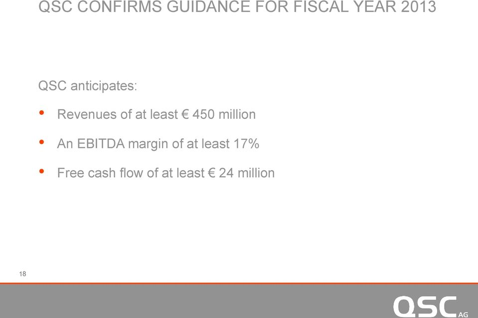 least 450 million An EBITDA margin of at