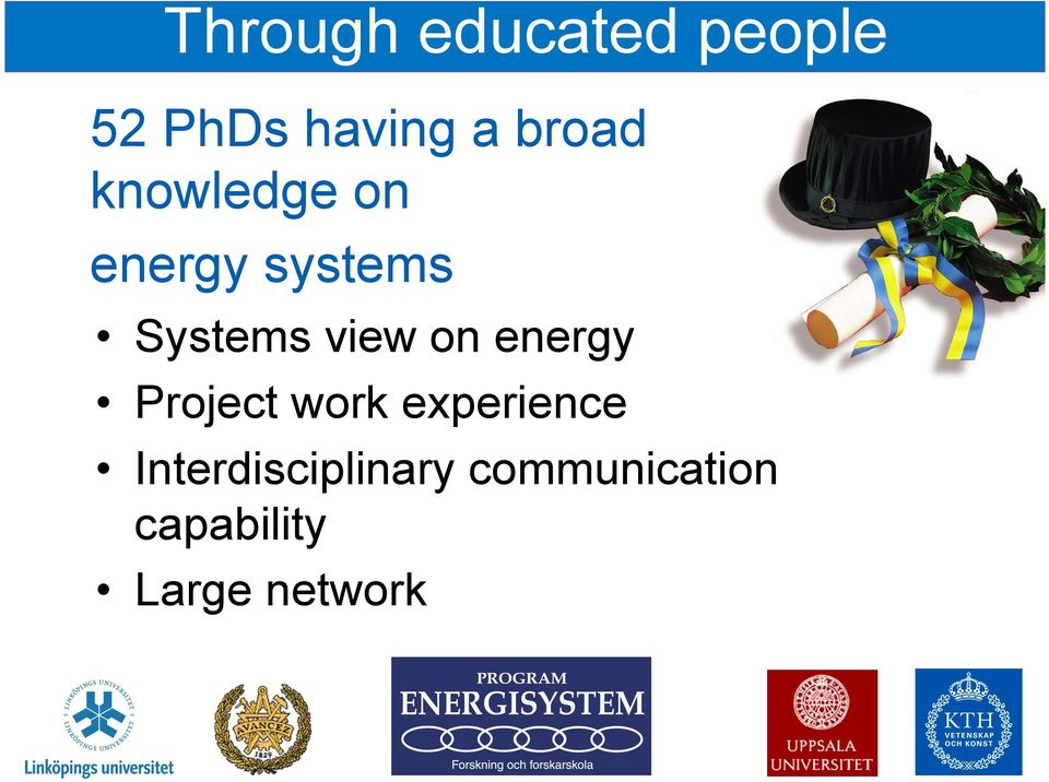 view on energy Project work experience