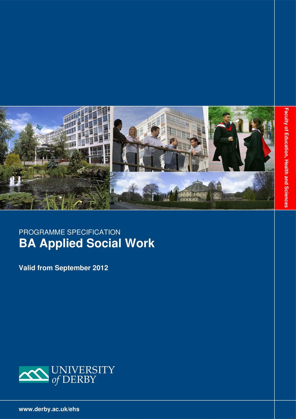 BA Applied Social Work Valid from