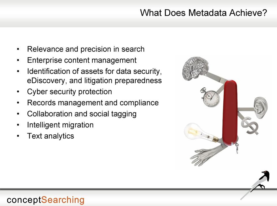 Identification of assets for data security, ediscovery, and litigation