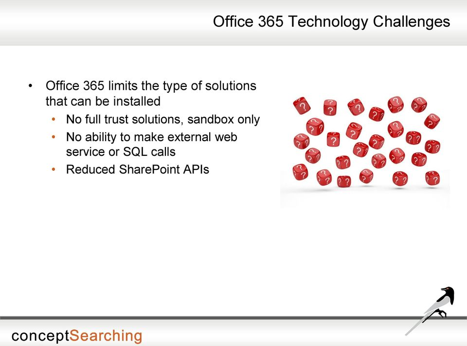 trust solutions, sandbox only No ability to make