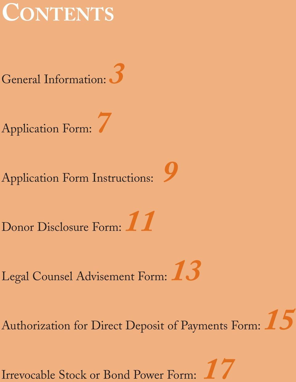 Legal Counsel Advisement Form:13 Authorization for Direct