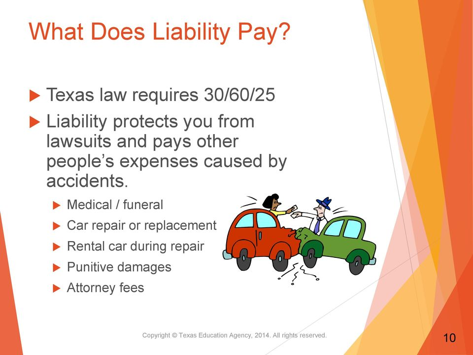 other people s expenses caused by accidents.