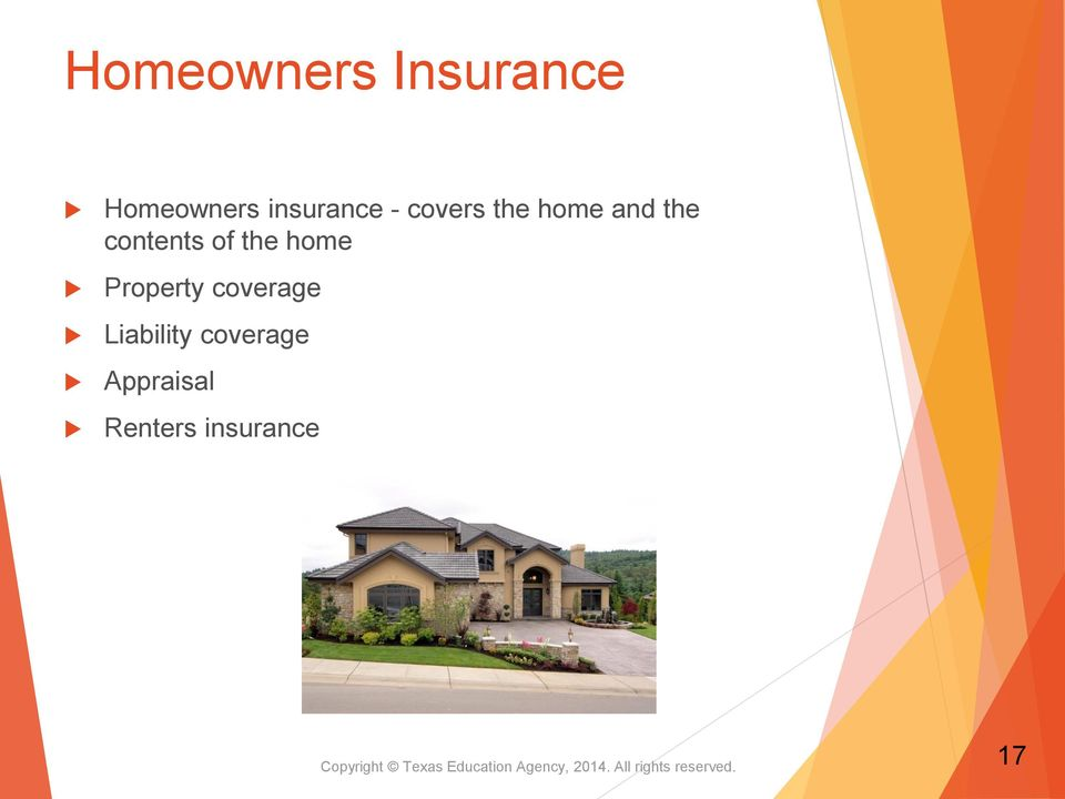 Liability coverage Appraisal Renters insurance