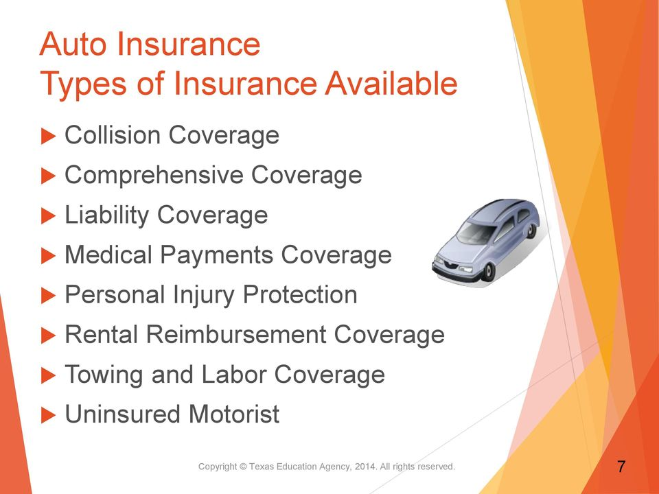 Personal Injury Protection Rental Reimbursement Coverage Towing and Labor