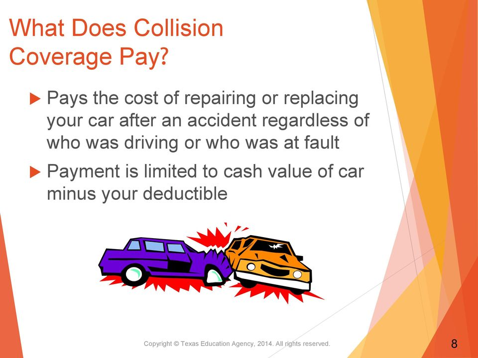 regardless of who was driving or who was at fault Payment is limited