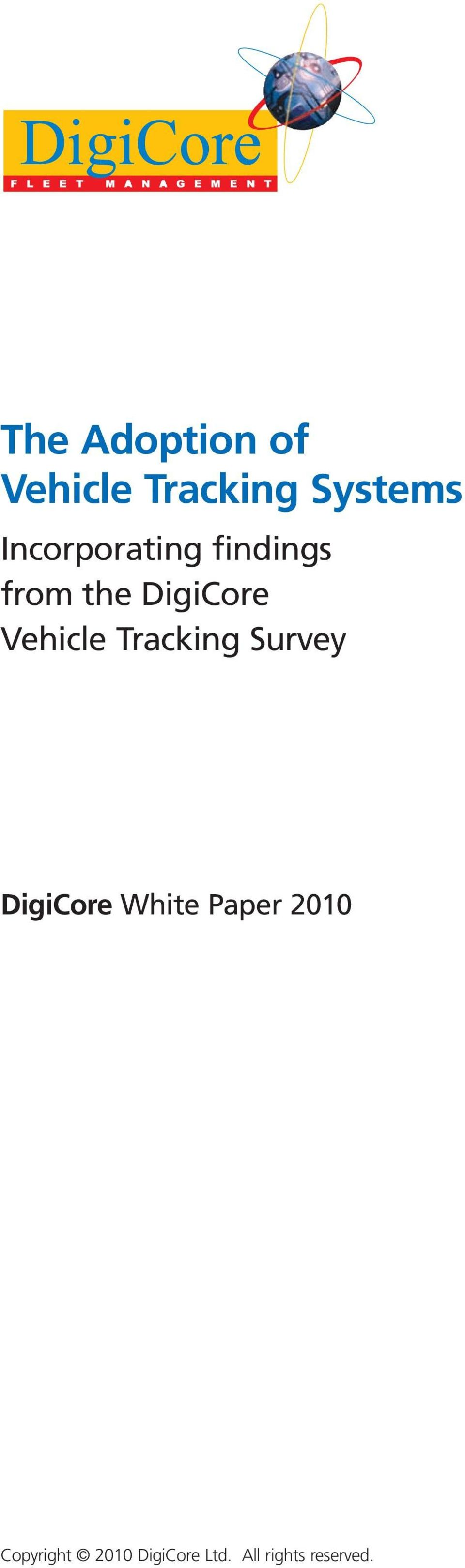 Vehicle Tracking Survey DigiCore White Paper