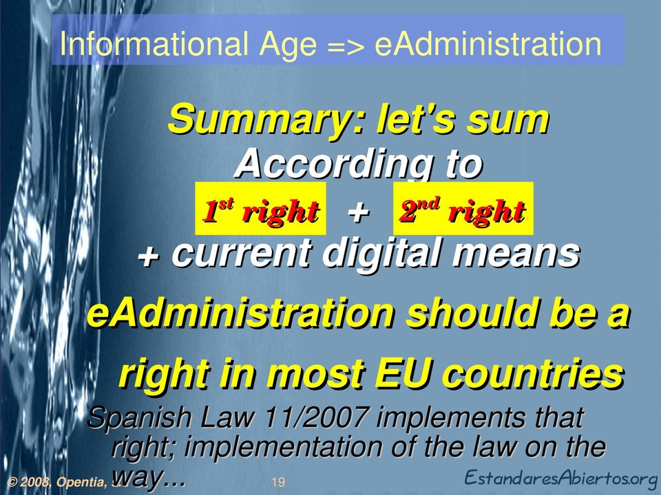 eadministration should be a right in most EU countries Spanish