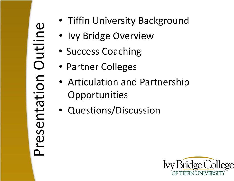 Coaching Partner Colleges Articulation