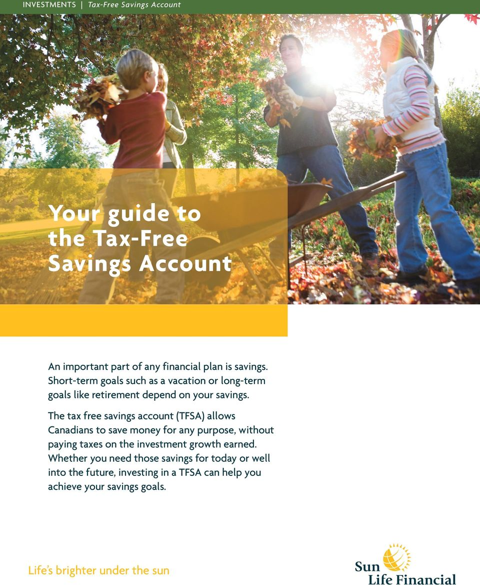 The tax free savings account (TFSA) allows Canadians to save money for any purpose, without paying taxes on the investment growth
