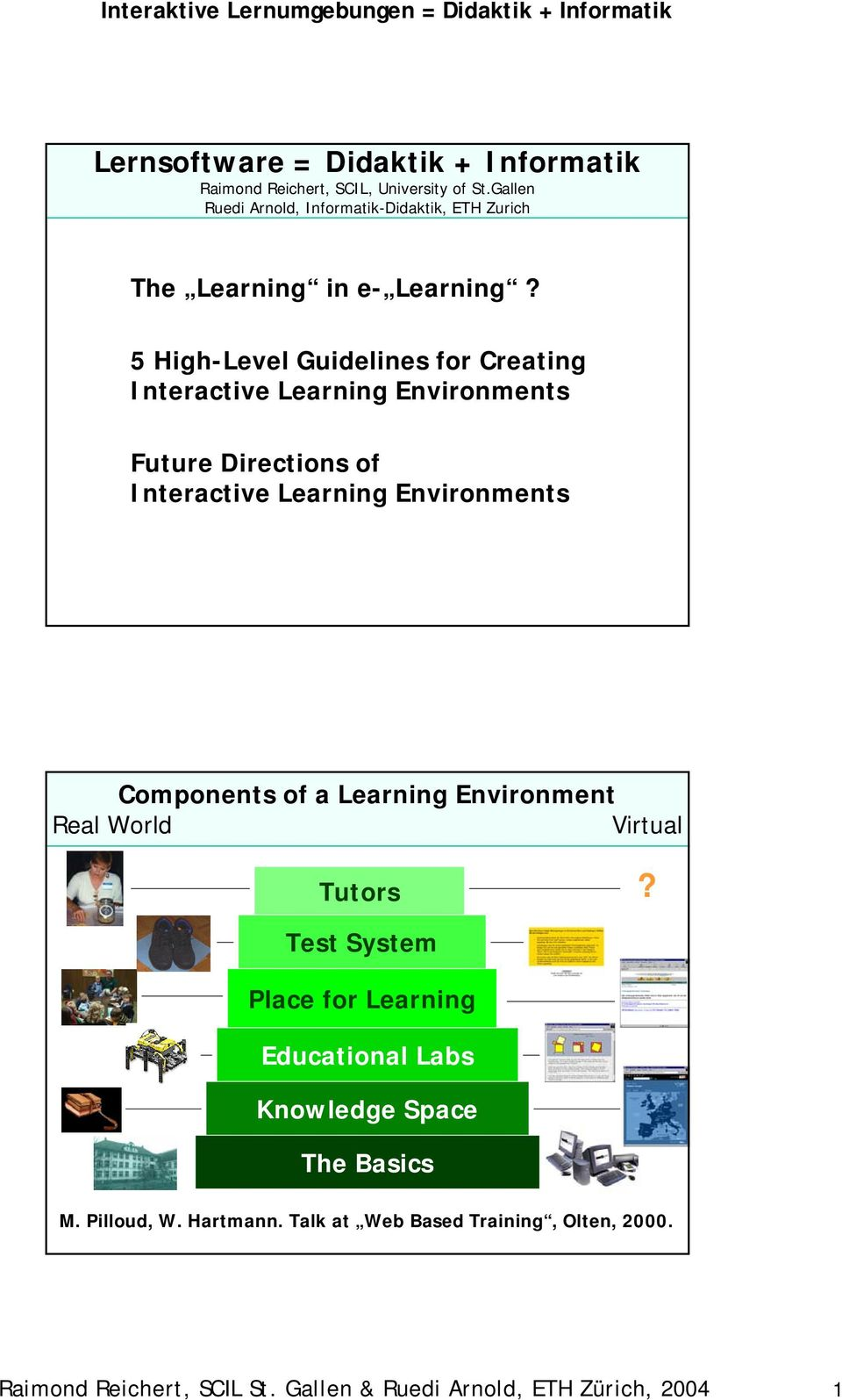 5 High-Level Guidelines for Creating Interactive Learning Environments Future Directions of Interactive Learning