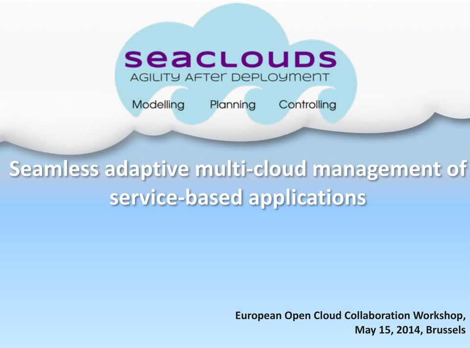 applications European Open Cloud