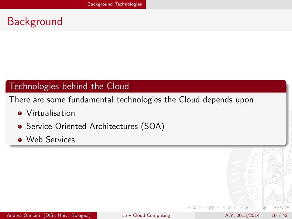 Virtualisation Service-Oriented Architectures (SOA) Web Services