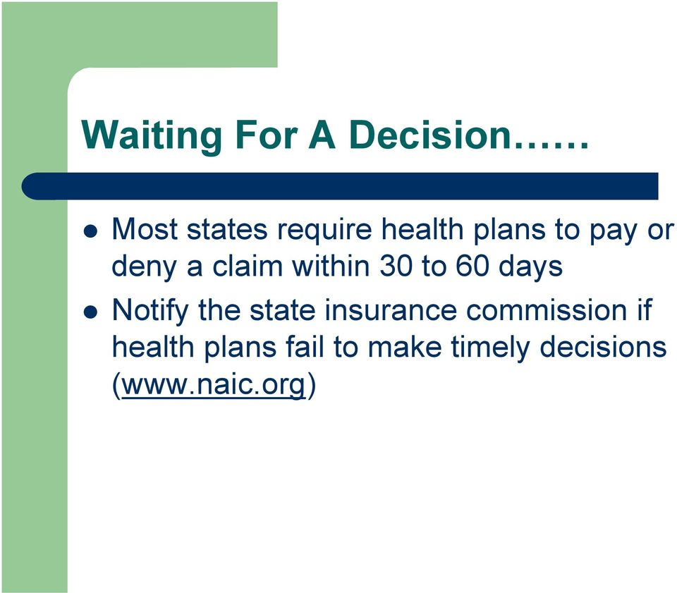 Notify the state insurance commission if health