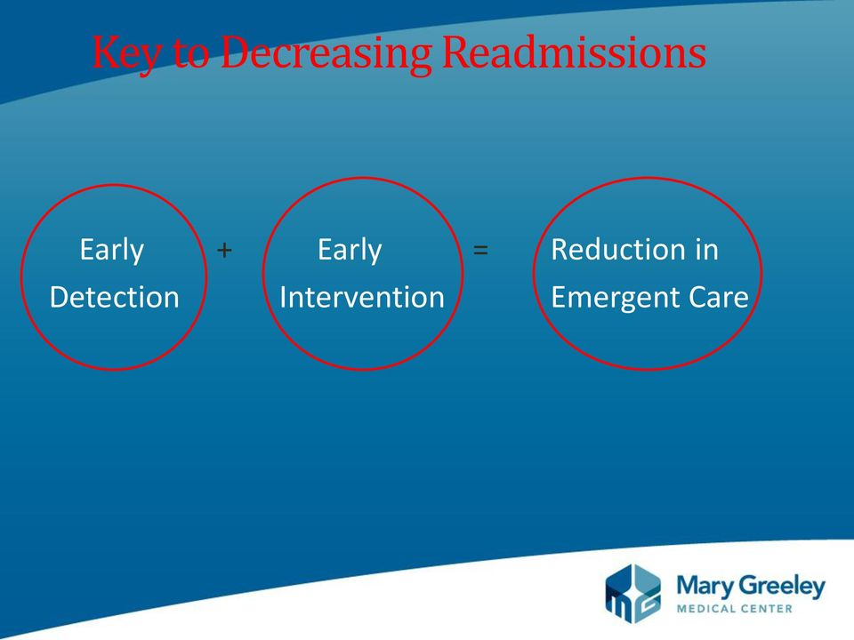 Early = Reduction in