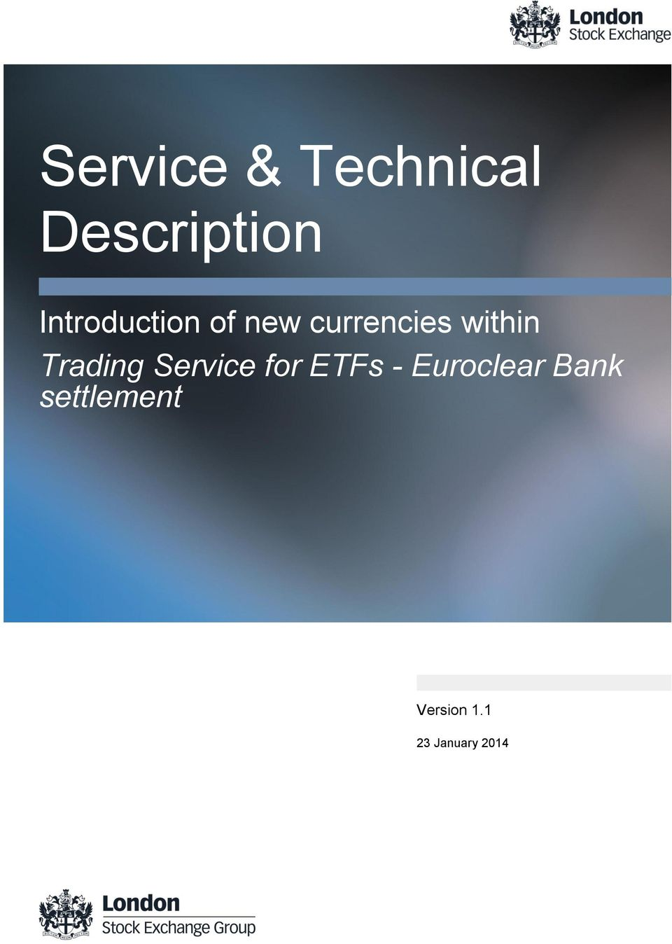 within Trading Service for ETFs -