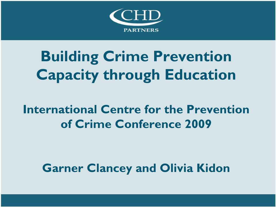 Centre for the Prevention of Crime