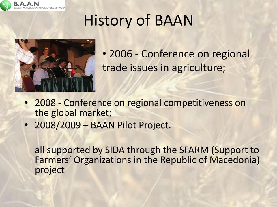 competitiveness on the global market; 2008/2009 BAAN