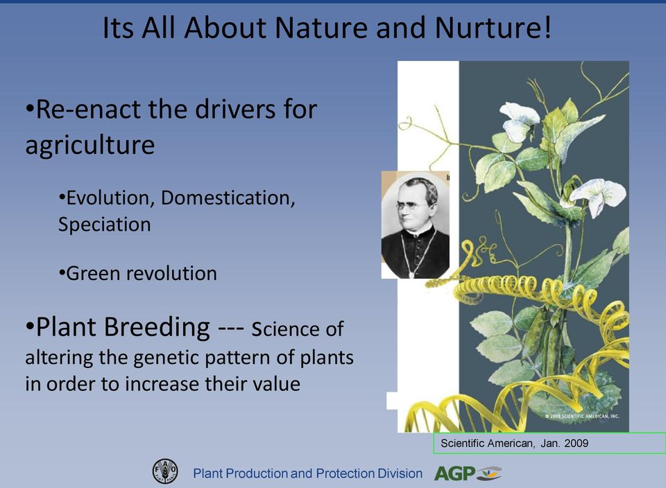 Speciation Green revolution Plant Breeding --- science of