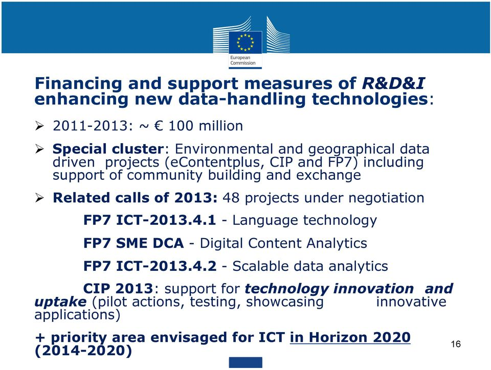 under negotiation FP7 ICT-2013.4.