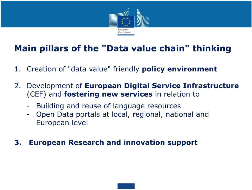 Development of European Digital Service Infrastructure (CEF) and fostering new services in