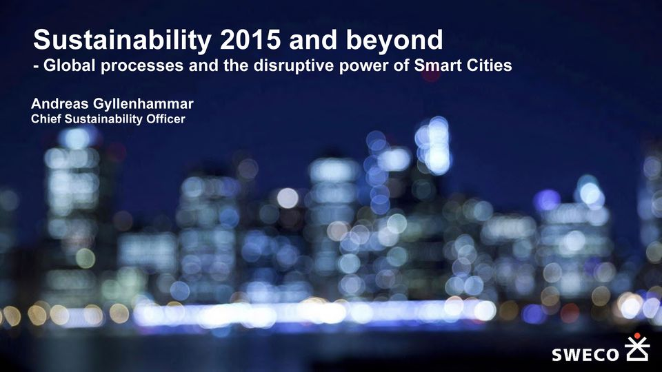 disruptive power of Smart Cities