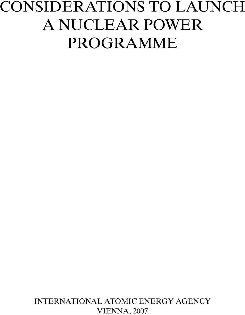 NUCLEAR POWER PROGRAMME SUBTITLE
