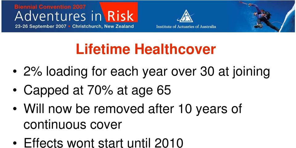 age 65 Will now be removed after 10 years