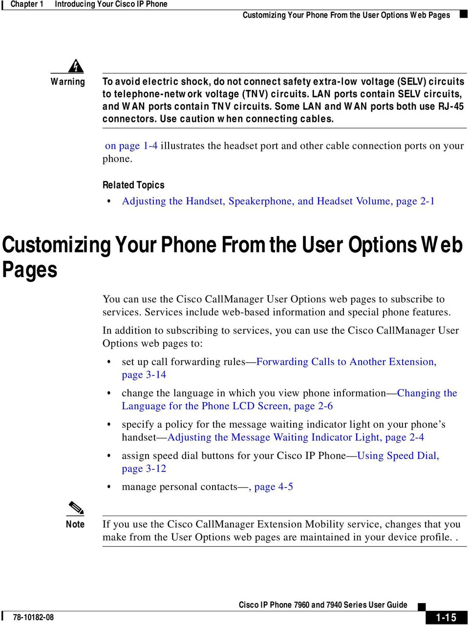on page 1-4 illustrates the headset port and other cable connection ports on your phone.