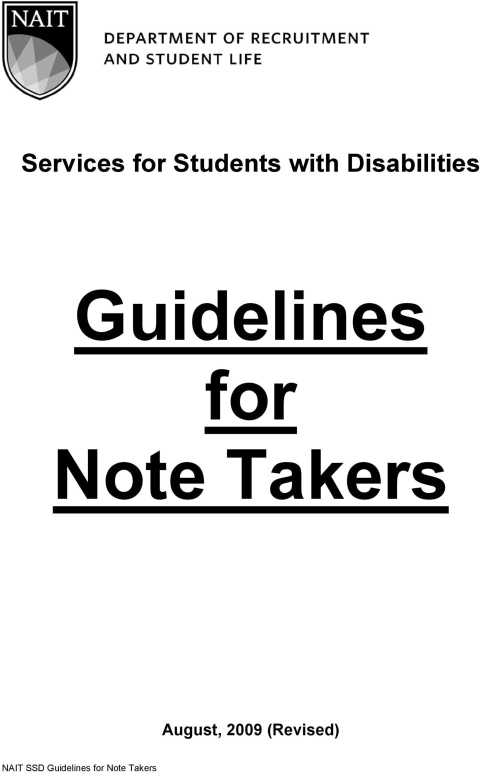 Guidelines for Note