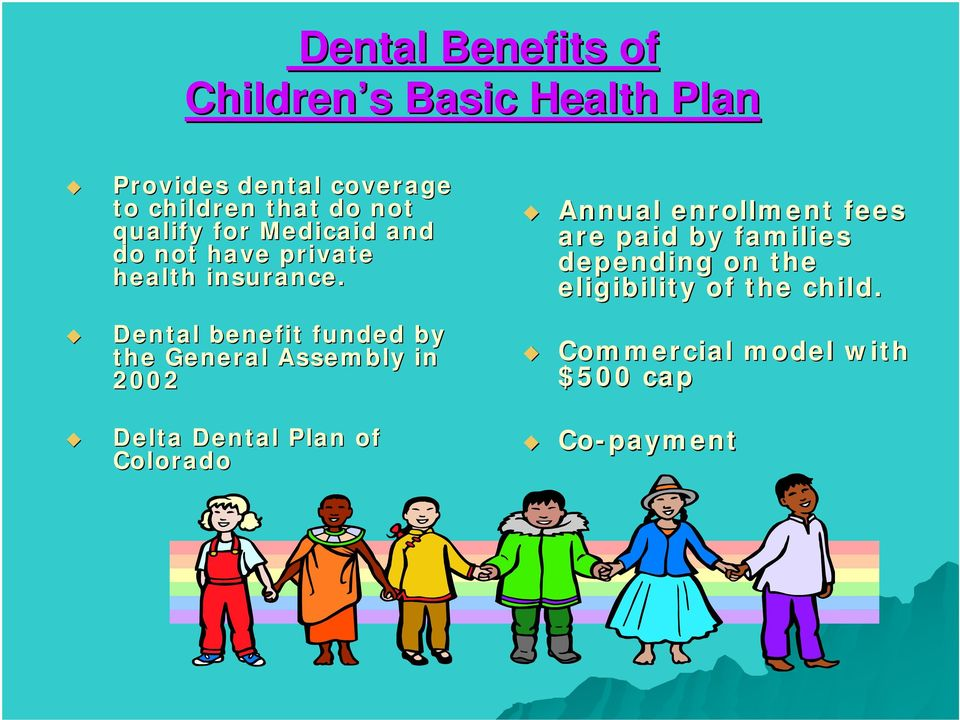 Annual enrollment fees are paid by families depending on the eligibility of the child.