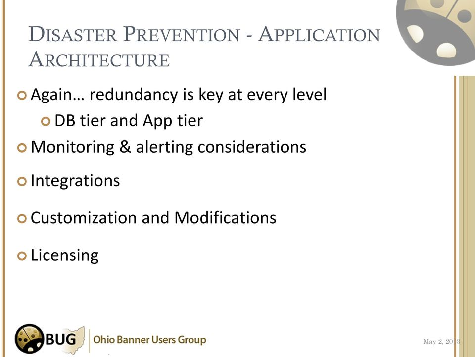 and App tier Monitoring & alerting considerations