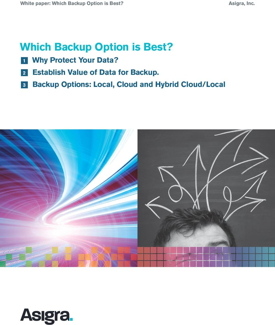 2 Establish Value of Data for Backup.